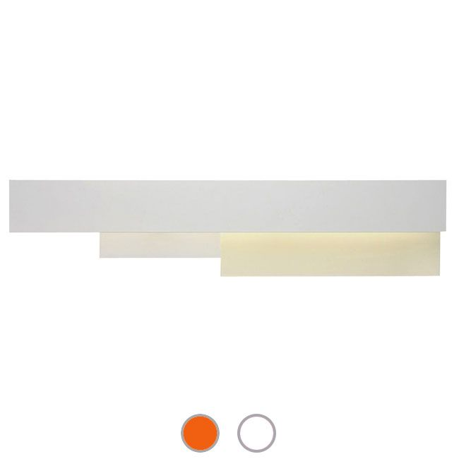 Foscarini Lámpara de pared Fields 2 - 1 luz G5 An.125 cm