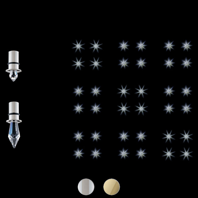Swarovski lámpara empotrada Star LED Kits Delight 36 Stars LED 20W Ø 2.5 cm