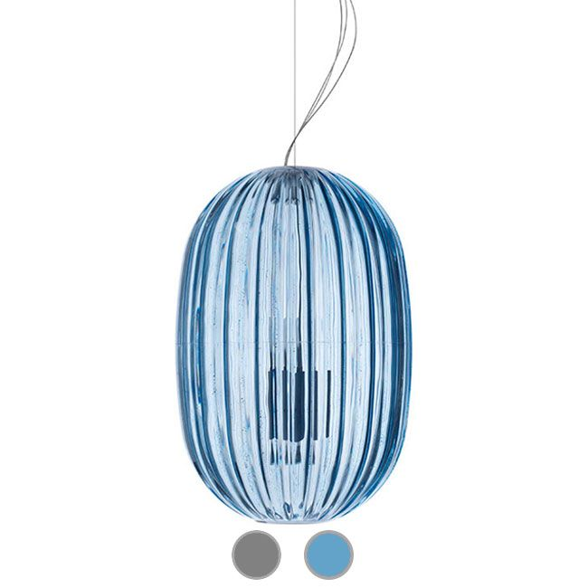 Foscarini Suspensión Plass Media 1xE27 + 1xGU10 L34 cm