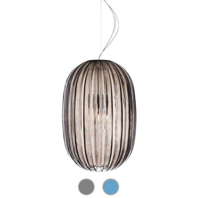 Foscarini Suspensión Plass Media 1 luz E27 Ø 34 cm