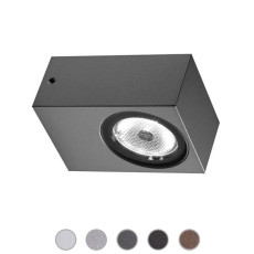 Ares Lámpara de pared Epsilon LED 3W L 5,5 cm IP65 Outdoor para exterior y jardin