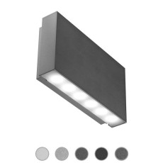 Ares Lámpara de pared Gamma LED 2,5W L 13 cm IP65 Outdoor para exterior y jardin