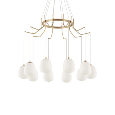 Ideal Lux Lámpara de suspensión Karousel 10 luces G9 Ø 82.50cm