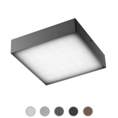 Ares Lámpara de pared/plafón Beta LED 3W L 11,8 cm IP65 Outdoor para exterior y jardin