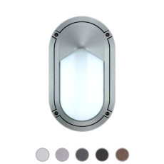 Ares Lámpara de pared/plafón Sam 1 Luces E27 L 15 cm IP65 Outdoor para exterior y jardin