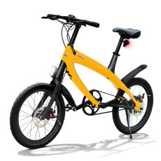 E-City Bike V-ITA Smart Solid con entrada USB-Amarillo