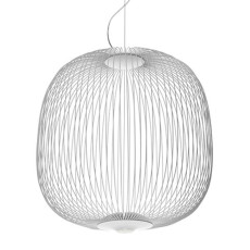 Foscarini Suspensión Spokes LED Regulable Ø 52 cm Blanco