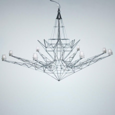 Foscarini Suspensión Lightweight 8 luces G4 Ø 116 cm