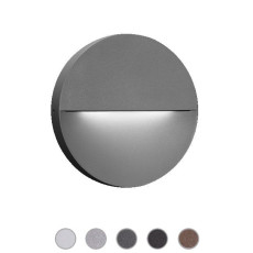 Ares Lámpara de pared Eclipse LED 7,5W Ø 23,3 cm IP65 Outdoor para exterior y jardin
