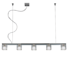 Fabbian Suspension Cubetto 5 luces G9 L 105cm