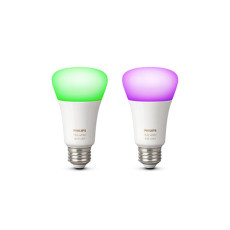 2 x Philips Hue White and Color Ambiance Bombilla LED 10W Ø 6,2 cm 4000K