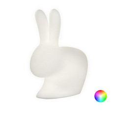 Qeeboo Rabbit Lámpara de pie LED RGB para exteriores