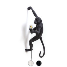 Seletti Lampara de pared New Monkey 1 Luz E14 H 76,5 cm para exteriores