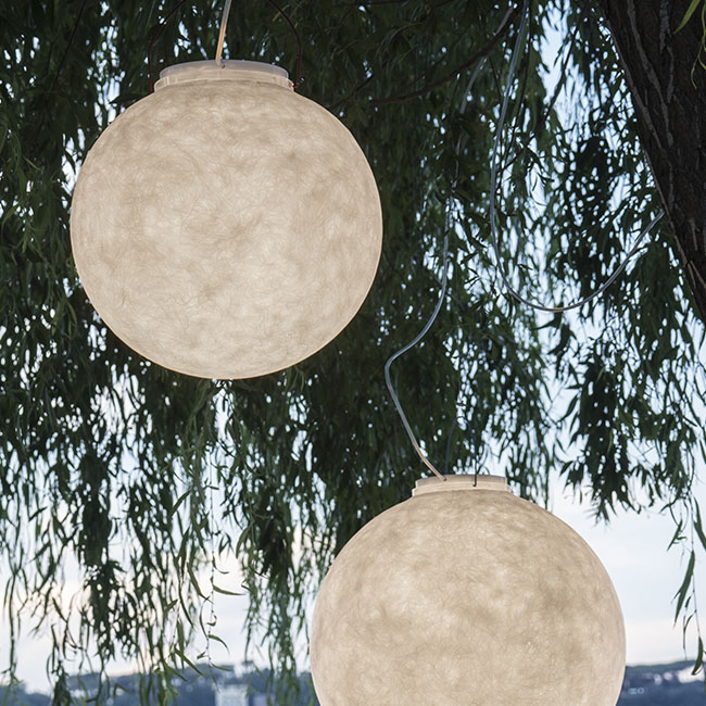 In-es Art Design Lámpara colgante LUNA OUT E27 Ø 70 cm 1 luz IP65 Outdoor para exterior y jardin