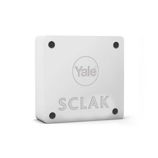Dispositivo Yale SCLAK bianco 12-24V con gestione relay NO/NC con 3 chiavi proprietario incluse