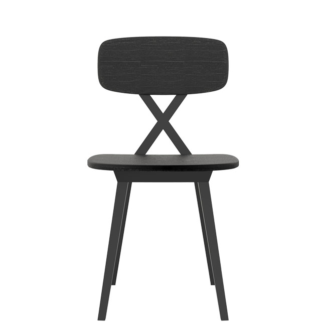 Qeeboo silla sin reposabrazos X chair without cushion H 83 cm